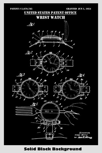 Wrist Watch With Magnifying Glass Patent Print Art Poster