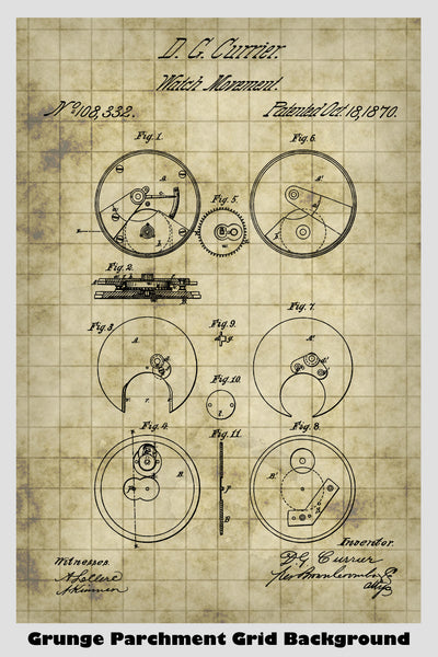 Watch Movement Patent Print Art Poster