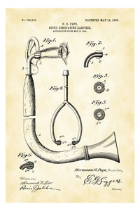 Hearing Aid (Ear Trumpet) Audiology Patent Print Art Poster