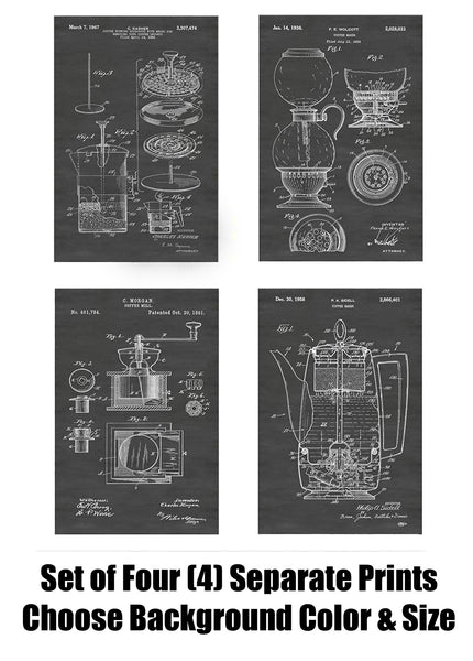 Vintage Coffee Making Apparatus Patent Print Art Posters Wall Decor Collection