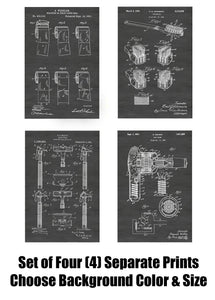 Bathroom Wall Art Patent Print Art Posters Wall Decor Collection