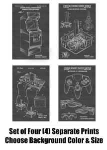 Vintage Video Gaming and Video Game Systems Patent Print Art Posters Wall Decor Collection