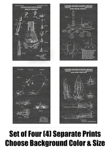NASA Space Exploration Patent Print Art Posters Wall Decor Collection