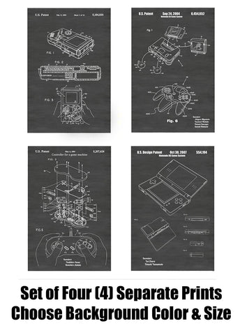 Nintendo Video Game Patent Print Art Posters Wall Decor Collection