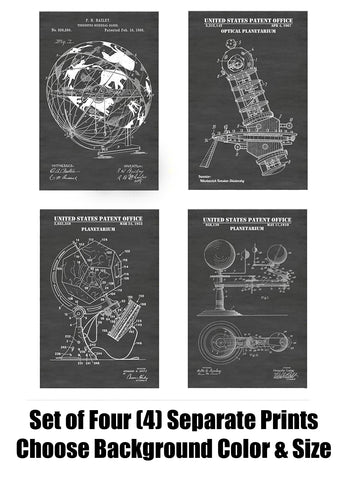 Vintage Planetarium & Sidereal Globe of Constellations Patent Print Art Posters Wall Decor Collection