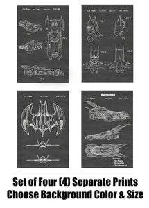 Batman Comic Book Superhero Patent Print Art Posters Wall Decor Collection