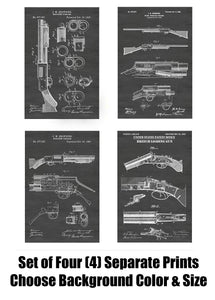 Antique Shotguns Patent Print Art Posters Wall Decor Collection