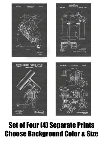 Vintage Telescopes: Optical, Radio & Binocular: Patent Print Art Posters Wall Decor Collection