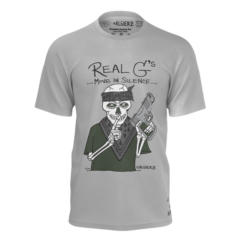 Real G's Move In Silence, T-Shirt, Grey