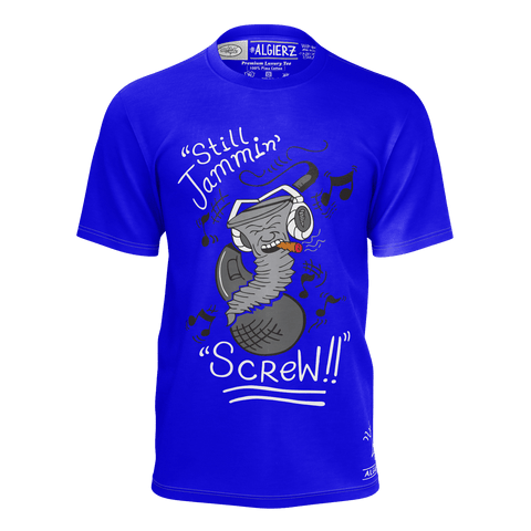 Still Jammin Screw (T-Shirt) Royal Blue