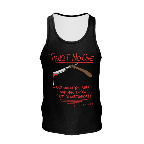 Trust No One (black) Tank-Top