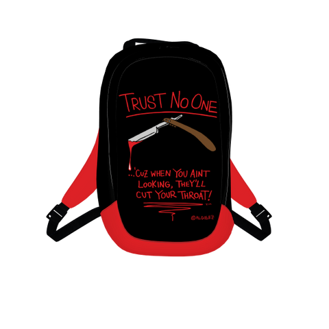 Trust No One, Laptop Backpack, Black