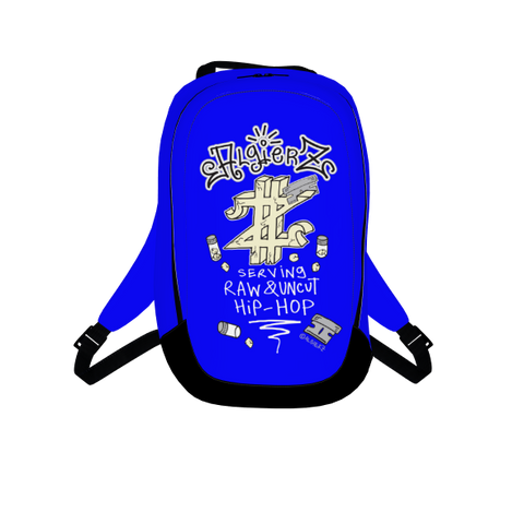 Serving Raw and Uncut, Laptop Backpack, Royal Blue