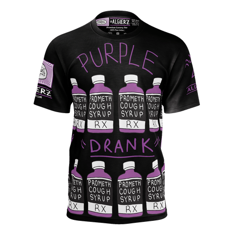 Purple Drank, Repeating Remix, Black T-Shirt