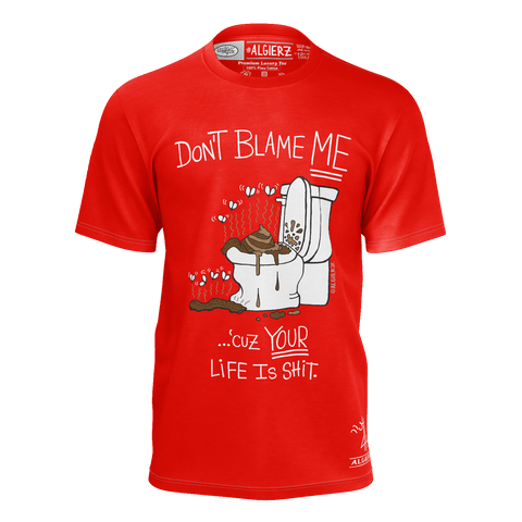Don't Blame Me, T-Shirt, Red