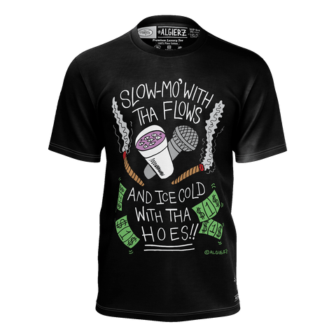 Slow-Mo With Tha Flows, T-Shirt, Black