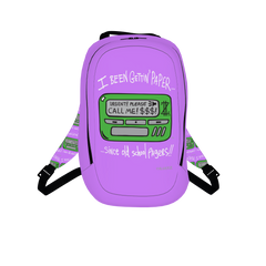 Old School Pager, Laptop Backpack, Light Plum Purple 🍇