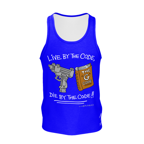 Live By The G Code, Tank Top, Royal Blue
