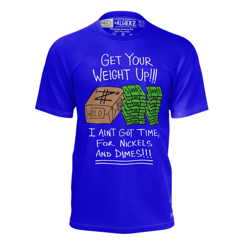 Get Your Weight Up, T-Shirt, Royal Blue