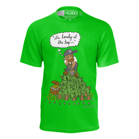 It's Lonely At The Top, T-shirt, Green