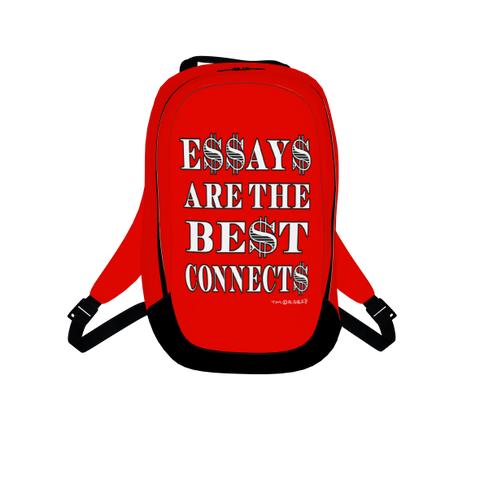 Essays Are The Best Connects, Laptop Backpack, Red
