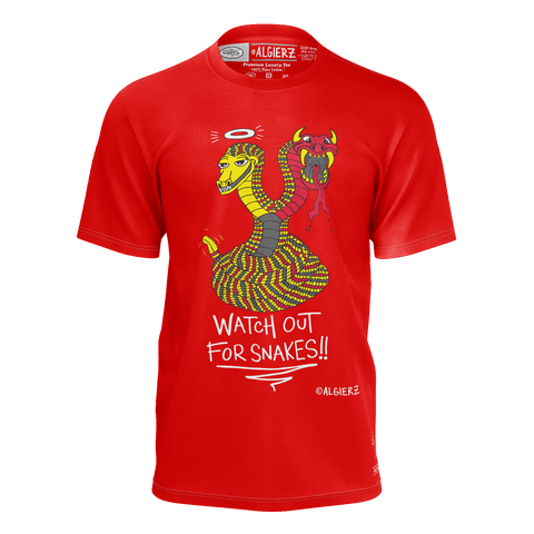 Watch Out For Snakes, T-Shirt, Red