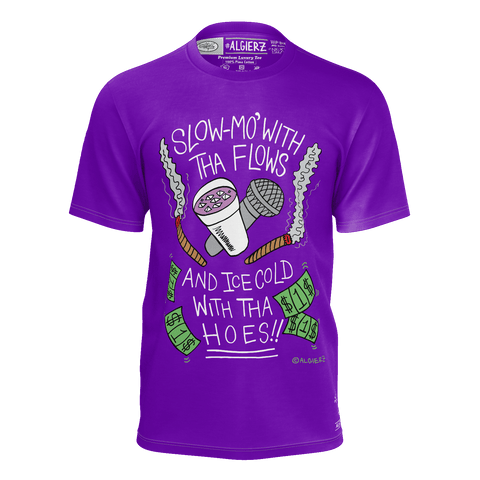 Slow-Mo With Tha Flows, T-Shirt, Purple