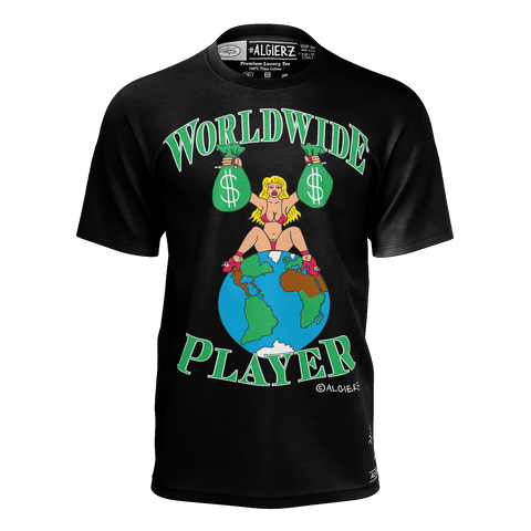 Worldwide Player, T-Shirt, Black