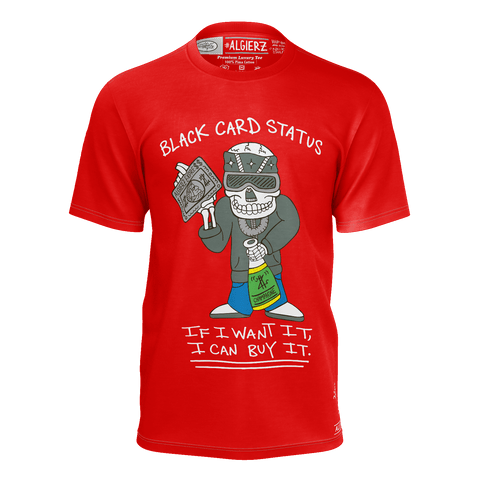 Black Card Status, T-shirt, Red