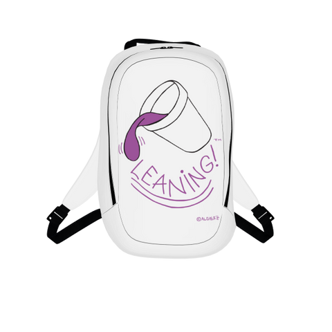 Leaning, Laptop Backpack, White