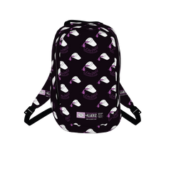 Leaning Drank Cup, Repeating Design, Black, Laptop Backpack