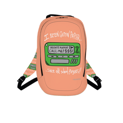 Old School Pager, Laptop Backpack, Peach