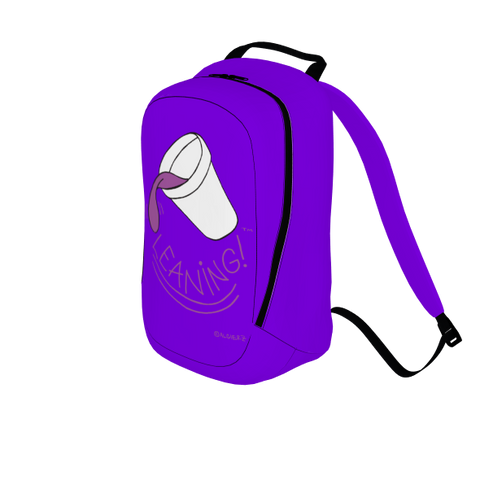 Leaning, Laptop Backpack, Purple