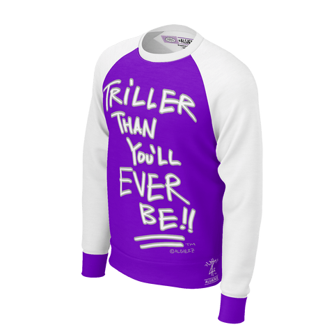 Triller Than You'll Ever Be, Longsleeve Raglan, Purple with White