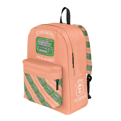 Old School Pager, Classic Backpack, Peach