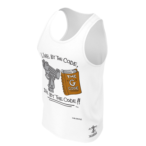 Live By The G Code, Tank Top, White