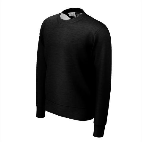 Algierz Flag, Crewneck Sweatshirt, Extra-Thick Fabric,  Black