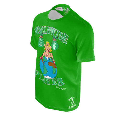 Worldwide Player, T-Shirt, Green