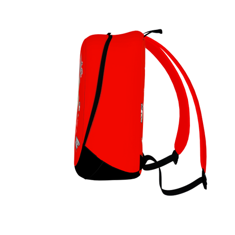 Serving Raw and Uncut, Laptop Backpack, Red