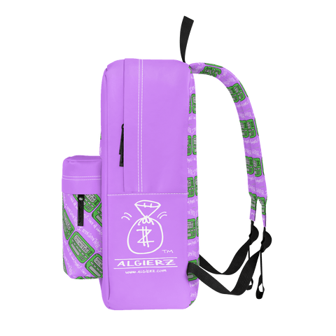 Old School Pager, Backpack, Light Plum Purple
