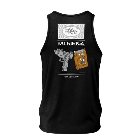 Live By The G Code, Tank Top, Black