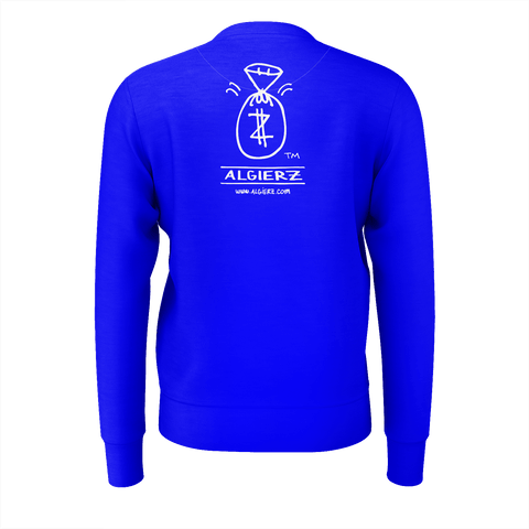 Real G's Move In Silence, Crewneck Sweatshirt, Royal Blue