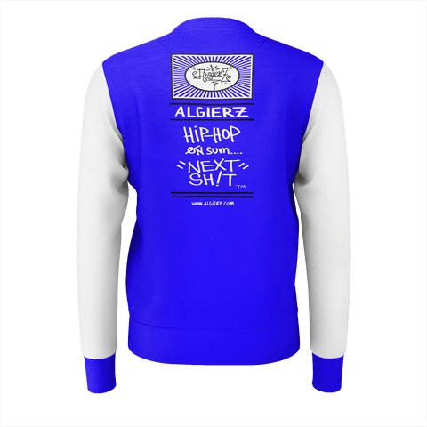 Essays Are The Best Connects, Crewneck Sweatshirt, Royal Blue with White