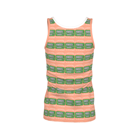 Old School Pager, Ladies Tank Top, Peach