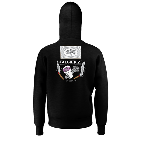Slow-Mo With Tha Flows, Pull-Over Hoody, Black