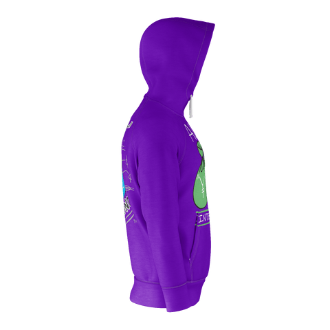 Algierz International Money, Zip-Up Hoody, Purple