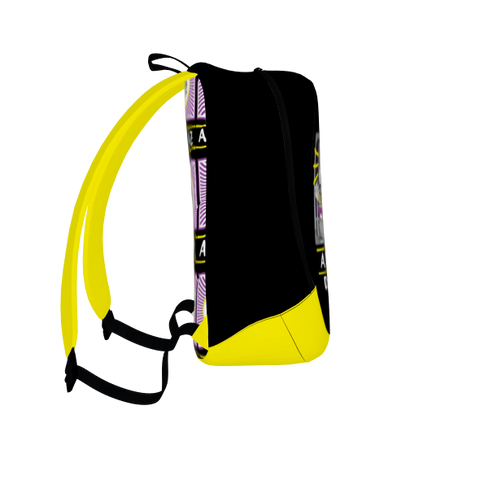 DJ Crew, Laptop Backpack, Black with Yellow