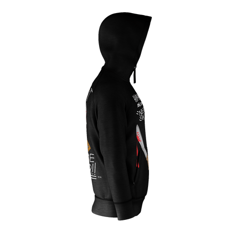 What Doesn't Kill Me // Zip-Up Hoody (Black)
