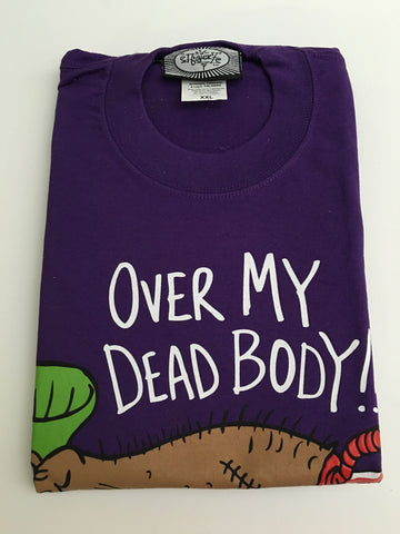 Over my dead body t-shirt purple