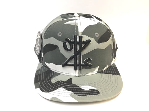 Z Money Snapback Grey Camo